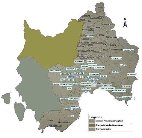 Mappa Sardegna Zona Cagliari.Uil Sardegna Cst